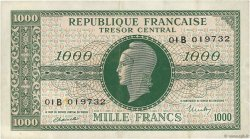 1000 Francs MARIANNE FRANCE  1945 VF.12.02 TTB à SUP