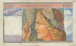 1000 Francs TRÉSOR PUBLIC FRANCE  1955 VF.35.01 TB+