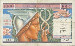 1000 Francs TRÉSOR PUBLIC FRANCE  1955 VF.35.02 TB+
