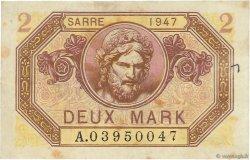 2 Mark SARRE FRANCE  1947 VF.45.01 TTB