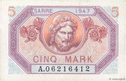 5 Mark SARRE FRANCE  1947 VF.46.01 pr.NEUF