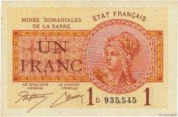 1 Franc MINES DOMANIALES DE LA SARRE FRANCE  1919 VF.51.04 SUP