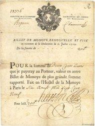 250 Livres - Monoye FRANCE régionalisme et divers  1709 Laf.13 TB