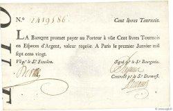 100 Livres Tournois typographié FRANCE  1720 Dor.26 pr.SUP