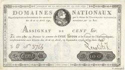 100 Livres FRANCE  1791 Ass.15a SUP