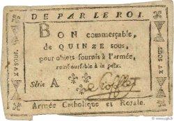 15 Sous Stofflet FRANCE  1794 Laf.272 TTB