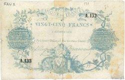 25 Francs type 1870 Clermont-Ferrand FRANCE  1870 F.A44.01 B