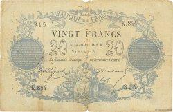20 Francs type 1871 FRANCE  1872 F.A46.03 B