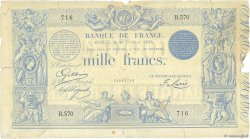 1000 Francs type 1862 Indices Noirs modifié FRANCE  1884 F.A50.03 B+