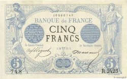 5 Francs NOIR FRANCE  1873 F.01.17 SUP+