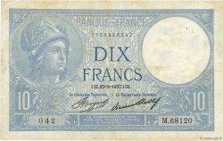 10 Francs MINERVE FRANCE  1937 F.06.18 TB+