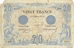20 Francs NOIR FRANCE  1875 F.09.02 TB
