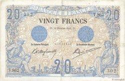20 Francs NOIR FRANCE  1904 F.09.03 TB+