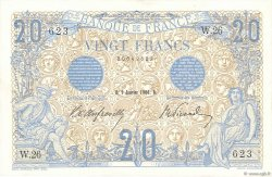 20 Francs BLEU FRANCE  1906 F.10.01 SPL+