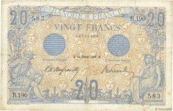 20 Francs BLEU FRANCE  1906 F.10.01 TB