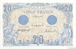 20 Francs BLEU FRANCE  1912 F.10.02 SUP+