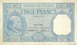 20 Francs BAYARD FRANCE  1916 F.11.01 pr.TTB