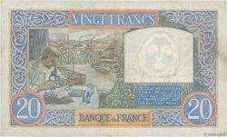20 Francs SCIENCE ET TRAVAIL FRANCE  1942 F.12.21 TTB+