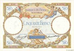 50 Francs LUC OLIVIER MERSON type modifié FRANCE  1933 F.16.04 SUP