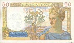 50 Francs CÉRÈS modifié FRANCE  1940 F.18.39 pr.SUP