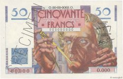 50 Francs LE VERRIER FRANCE  1946 F.20.00 SPL