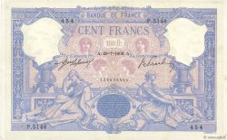 100 Francs ROSE ET BLEU FRANCE  1908 F.21.23 TTB