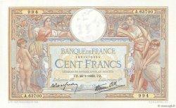 100 Francs LUC OLIVIER MERSON type modifié FRANCE  1939 F.25.40 NEUF