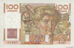100 Francs JEUNE PAYSAN filigrane inversé FRANCE  1953 F.28bis.03 SUP à SPL