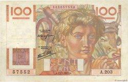 100 Francs JEUNE PAYSAN Favre-Gilly FRANCE  1947 F.28ter.01 TB+