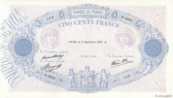 500 Francs BLEU ET ROSE modifié FRANCE  1937 F.31.03 TTB+