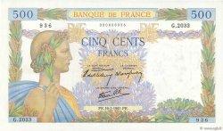 500 Francs LA PAIX FRANCE  1941 F.32.13 SPL+