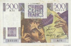 500 Francs CHATEAUBRIAND FRANCE  1946 F.34.04 SPL