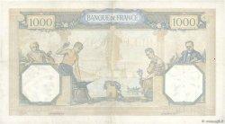 1000 Francs CÉRÈS ET MERCURE type modifié FRANCE  1937 F.38.01 TTB+