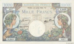 1000 Francs COMMERCE ET INDUSTRIE FRANCE  1944 F.39.10 SUP+