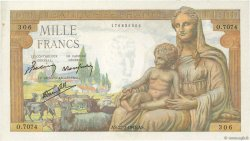 1000 Francs DÉESSE DÉMÉTER FRANCE  1943 F.40.31 pr.NEUF