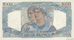 1000 Francs MINERVE ET HERCULE FRANCE  1945 F.41.04 SUP