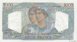 1000 Francs MINERVE ET HERCULE FRANCE  1950 F.41.33 SPL