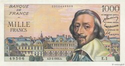 1000 Francs RICHELIEU FRANCE  1953 F.42.01 SPL
