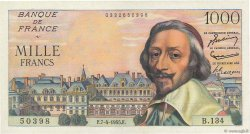 1000 Francs RICHELIEU FRANCE  1955 F.42.12 SPL+