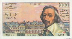 1000 Francs RICHELIEU FRANCE  1955 F.42.14 SUP+