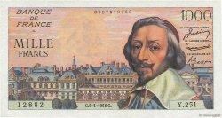 1000 Francs RICHELIEU FRANCE  1956 F.42.20 pr.SPL