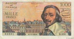 1000 Francs RICHELIEU FRANCE  1956 F.42.20 TB+