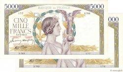 5000 Francs VICTOIRE Impression à plat FRANCE  1941 F.46.30 SUP à SPL