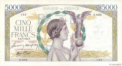 5000 Francs VICTOIRE Impression à plat FRANCE  1942 F.46.41 SPL