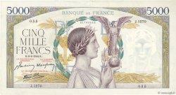 5000 Francs VICTOIRE Impression à plat FRANCE  1944 F.46.51 TTB+