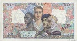 5000 Francs EMPIRE FRANÇAIS FRANCE  1945 F.47.32 pr.SPL