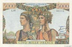 5000 Francs TERRE ET MER FRANCE  1951 F.48.04 SUP