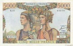 5000 Francs TERRE ET MER FRANCE  1949 F.48.01 pr.SUP