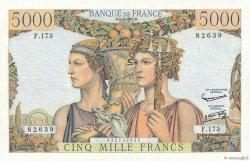 5000 Francs TERRE ET MER FRANCE  1957 F.48.16 pr.SPL