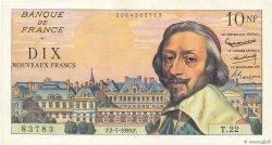 10 Nouveaux Francs RICHELIEU FRANCE  1959 F.57.02 SUP à SPL